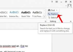 how to find and replace text in word 2013