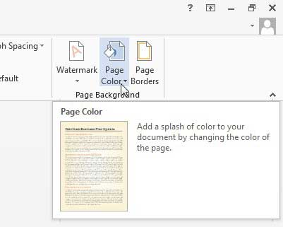 How To Change The Background Color In Word 2013