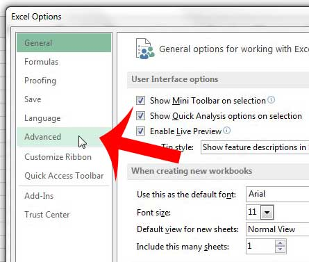 how to change the decimal separator in excel 2013
