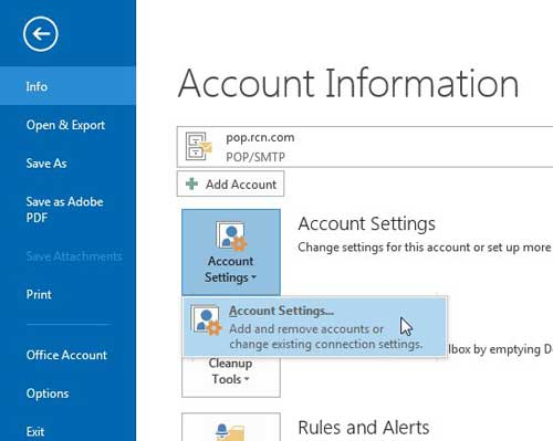 how to change the outgoing port in outlook 2013