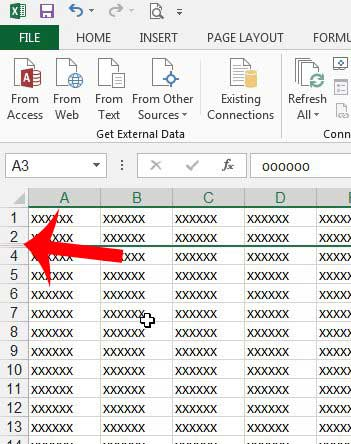 how to hide a row in excel 2013