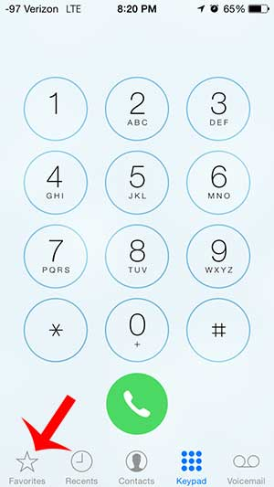how to delete a contact from your favorites on the iphone in ios 7