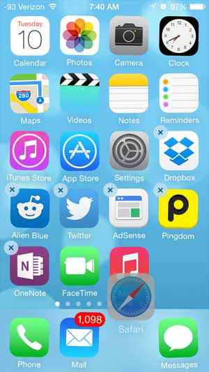 how to move safari to the dock on the iphone