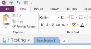 how to keep the ribbon visible in onenote 2013