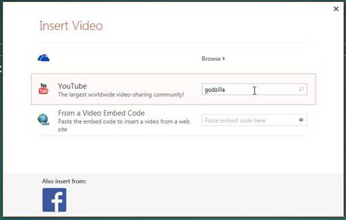 how to embed a youtube video in powerpoint 2013