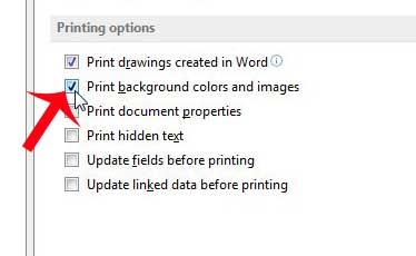 How To Print The Background Color In Word 2013