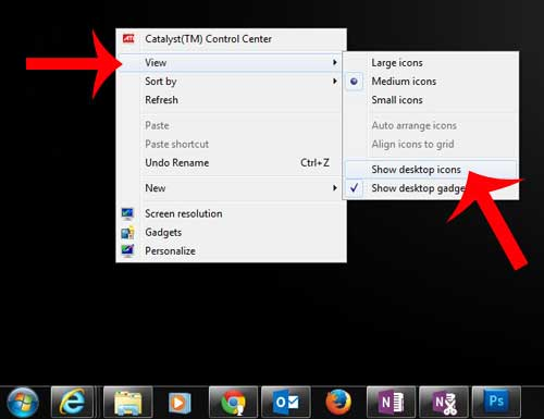how to show hidden desktop icons in windows 7
