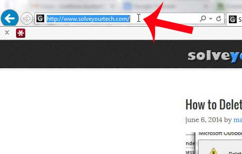 open your Web browser and copy the address to use for the link
