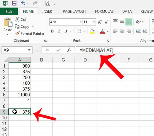 view the median formula