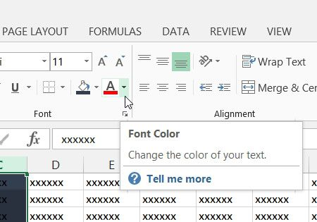 click the arrow to the right of font color
