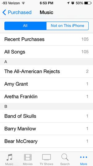 select all, or not on this iphone