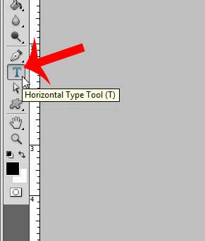 click the type tool option in the toolbox