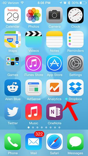 little blue dot next to iphone app
