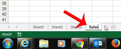 enter the new name for the worksheet tab