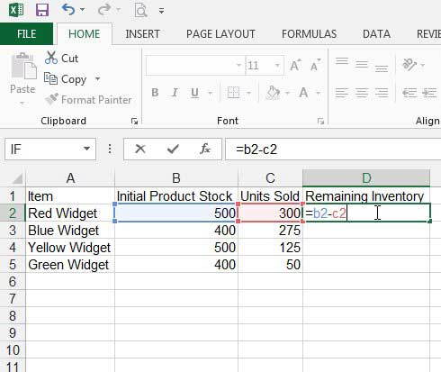How to Subtract in Excel 2013 with a Formula - Solve Your Tech