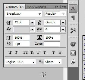 use the character window, if necessary