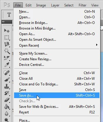 click file, then save as