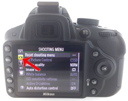 select the shooting menu