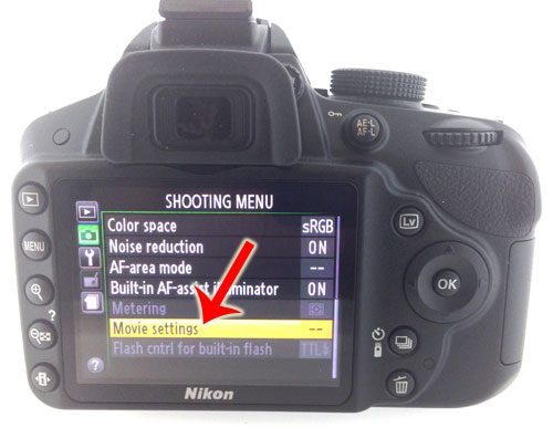 select movie settings