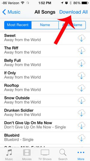 how to download music in iphone 4