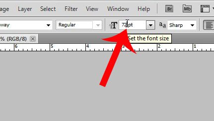 click inside the font size field