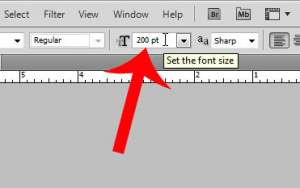 enter your desired new font size