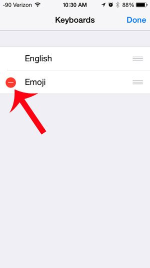 touch the red circle to the left of emoji