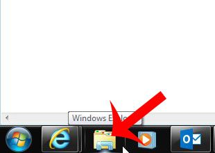 click the windows explorer icon