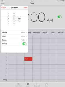 select the new time, then save the alarm