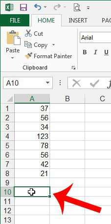 select the cell where you will display the highest value