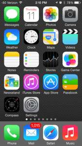 iphone 5 first default home screen