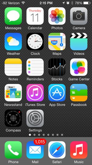 screen for iphone 5 what is on the default home screen of an iphone 5 in ios 7 1336