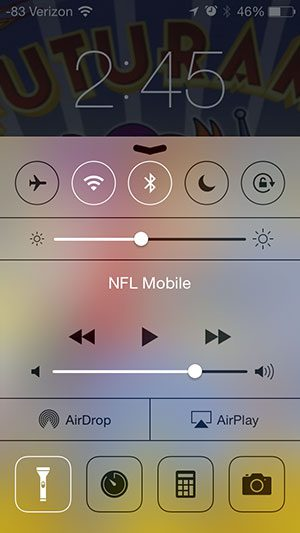 Open The Control Center