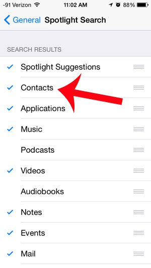 add contacts to spotlight search