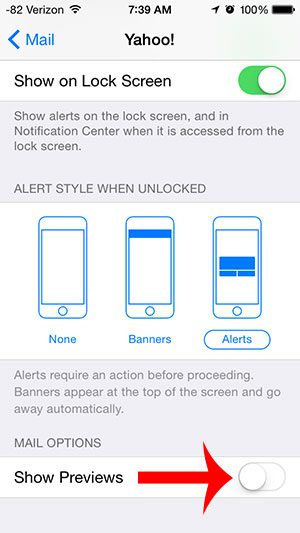 How to Stop Showing Email Previews on the iPhone Lock Screen