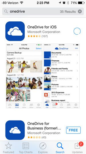 download and install onedrive
