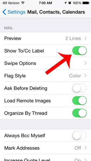 Show a To or CC Label on Emails in the iPhone Inbox - Solve