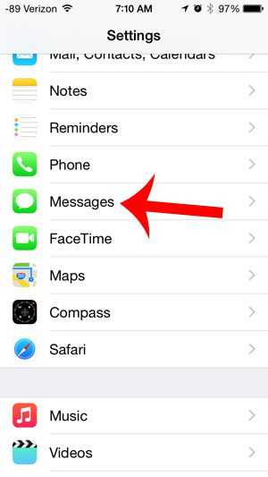 open the messages menu
