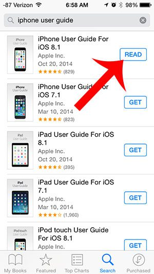 how to get the iphone user guide solve your tech rh solveyourtech com verizon iphone 7 plus user manual iPhone 5 User Manual