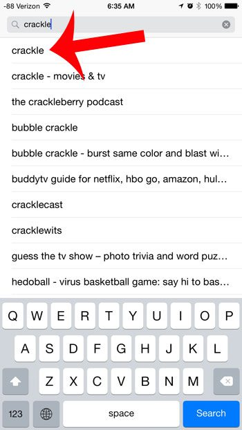 search for crackle