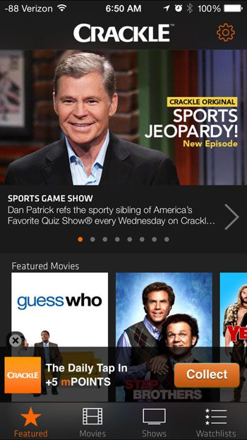 start watching crackle videos on your iphone