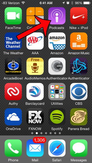 open the podcasts app