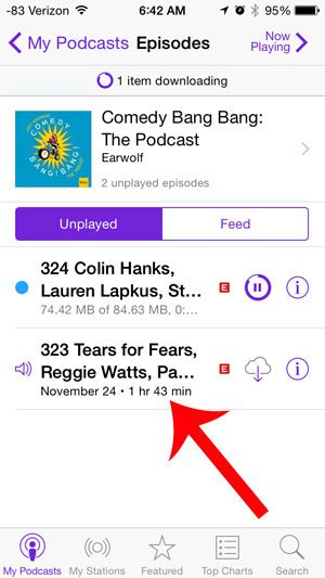 select the podcast episode to listen to