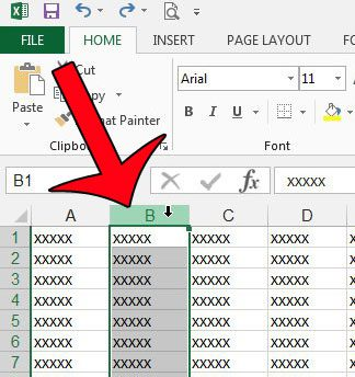 how to set column width in excel