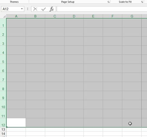 photo regarding Printable Columns and Rows identified as How towards Print a Blank Spreadsheet inside Excel 2013 - Remedy Your Tech