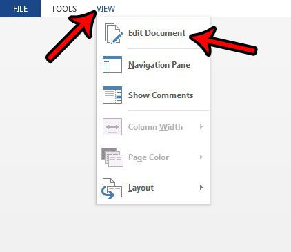 how to exit read mode in word 2013