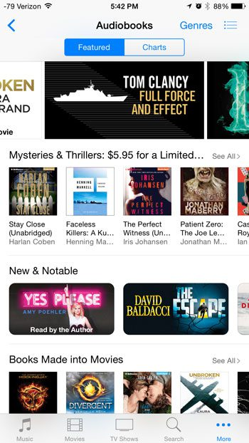 select the audiobook to buy