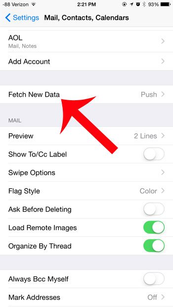 tap the fetch new data button