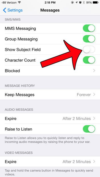 turn off messages on iphone 6