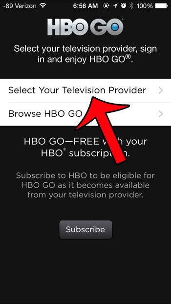 select your television provider